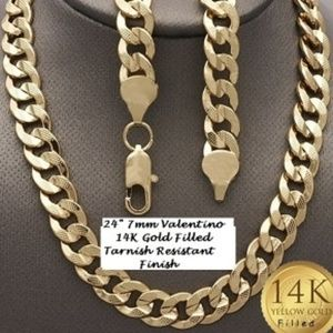 Other - 14K GOLD FILLED VALENTINO NECKLACE